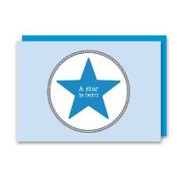 Amazing Ideas Doppelkarte Star blau